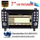 Car DVD GPS para Mercedes-Benz Slk-171 Navegação com Bluetooth / Rádio / RDS / TV / Can Bus / USB / iPod / HD Touchscreen Function