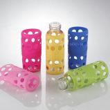 Kundenspezifische geformte bestes Silikon-Glaswasser-trinkende Flaschen-Hülse
