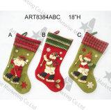 Чулок снеговика Санта с связанным украшением Тумак-Рождества