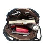 女性の革余暇は方法大きいサイズの学校のバックパック袋を袋に入れる