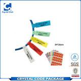 El color imprimió la etiqueta autoadhesiva rodada pegamento del cable de alambre