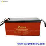 Batterie 12V200ah de gel de panneau solaire pour la mémoire de pouvoir (HTL12-200AH)