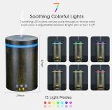 전기 실제적인 목제 까만 진한 색 초음파 방향 유포자 정유 공기 가습기