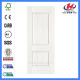 Pele branca interior personalizada da porta da melamina do MDF HDF (JHK-MN05)