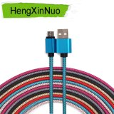 Samsung 비용을 부과 데이터 마이크로 USB 케이블을%s 나일론 땋는 인조 인간 V-8
