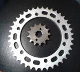 Corrente de aço padrão do rolo da transmissão do passo 19.05mm 12b Douplex do RUÍDO do ISO