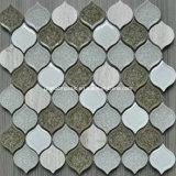 Nuovo Design Peach Glass & Ice Crackle Ceramic Mosaic per 2016