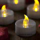 Remote Control를 가진 초 Manufacturer Wholesale Yellow Flickering LED Candels