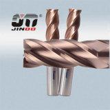 Couteaux 2/4 de la cannelure HRC45 de tungstène de carbure solides en métal