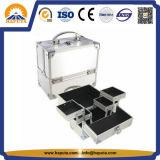 Caisse de train en aluminium cosmétique pour l'artiste de renivellement (HB-1203)