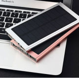 2016 горячий крен Sale 20000mAh Solar тонкий Metal Power с СИД Light