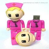 Пластиковые Врачи Робот Pen Drive USB Flash Drive для подарка