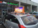Diodo emissor de luz superior do táxi que anuncia a tela P5 ao ar livre