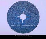disco de cerámica de la fibra de los abrasivos de la materia prima del 100% los 3m