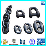 CCS, ABS, Lr, Gl, Dnv, Nk, BV, Kr, Rina, RS를 가진 근해 Stud 및 Studless Marine Ship Anchor Chain
