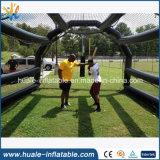 Cage gonflable de PVC de vente chaude pour la formation de jeu de sports