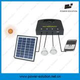 Sistema de iluminación accionado solar de la batería reemplazable con el kit de 2 bulbos del LED para dos cuartos