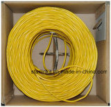 Cat5e, 350 MHz, UTP, 24 AWG, 8c sólido de cobre desnudo, 1000FT, amarillo, cable Ethernet LAN
