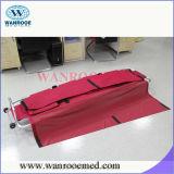 Esticador Mortuary de dobramento de alumínio do saco para o transporte de cadáveres com rodas