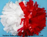 Blick POM Poms naßmachen: Rot und Weiß