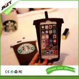 3D Geval van de Telefoon van het Silicone van de Vorm van de Kop van de Koffie van het Beeldverhaal voor iPhone 6s