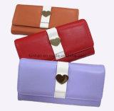 Nette konzipierte PU-lederne Mappe/gute Qualität und heiße Verkaufs-Dame Wallet mit Inner-Metall