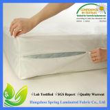 Cubierta de colchón hecha punto poliester ajustada de la cubierta del fallo de funcionamiento de base de la sola base