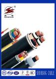 câble d'alimentation isolé par PE/XLPE de l'en cuivre 600/1000V/en aluminium de conducteur