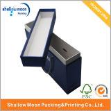 Vakje van de Verpakking van het Document van de Juwelen van het handvat en van het Deksel het Blauwe (QY150019)