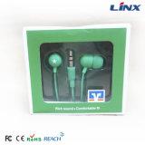 auricular estéreo del en-Oído de los auriculares de 3.5m m con precio bajo
