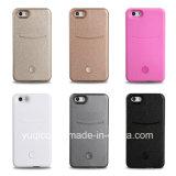 La caja elegante del teléfono con el LED enciende para arriba su caso para el iPhone 5s