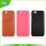 Forma Genuine Leather Flip Caso para o iPhone 6 com Three Card Holder Slot