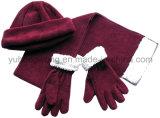 Knitting Polar Fleece Set 승진 겨울 온난한 숙녀