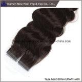 La meilleure prolonge bouclée de cheveu de bande de cheveux humains de quantité