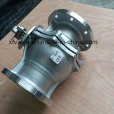 La norme ANSI 150lb a moulé le robinet à tournant sphérique d'extrémité de bride de l'acier inoxydable CF8
