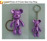 Corrente chave do urso feito sob encomenda plástico quente ambiental da venda