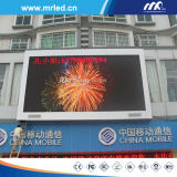 P20 Outdoor Full Color LED Display Screen su The Top di Building