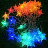 Света шнура звезды украшения PVC Conectable СИД цветастые