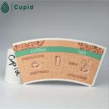 Ventilateur imprimé enduit par PE simple /Blank/Stroke de tasse de papier de Hztl