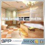 Pietra naturale beige elegante/mattonelle di marmo per circondare della stanza da bagno