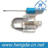 Прозрачный профессиональный Cutaway Padlock практики Yh9254 для инструментов Locksmith тренировки