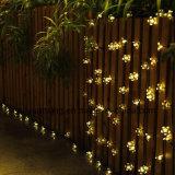 Luzes feericamente da corda da flor solar impermeável