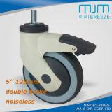 5 '' 125mm TPR dreht geräuschlose die Schrauben-Schwenker-Fußrolle M12*25