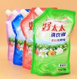 Máquina de empacotamento horizontal do saco do bocal da sução para a pasta ou o líquido