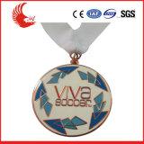 medalla plateada aleación del deporte de la plata y del oro del cinc del diseño 3D