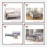 Qualitäts-modernes Metalldoppeltes Bett (HF031)