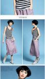 2016 vestiti a strisce svegli casuali della maglia delle donne di modo