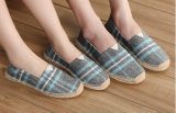 熱い販売の男女兼用の縞の快適なスリップオンの平らな靴(MD 16)