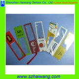 Hw801 Business Gift Plástico Lupa Bookmark Magnifier Ruler para leitura