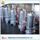 浸水許容の下水ポンプを排水する非Qwシリーズ障害物